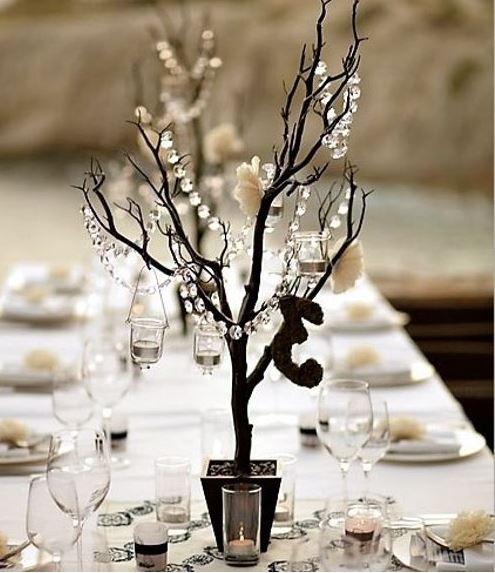 Navidad y ramas secas