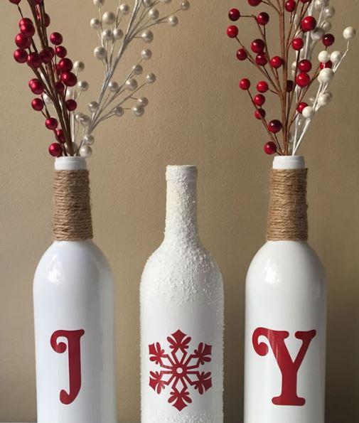Botellas elegantes y de blanco