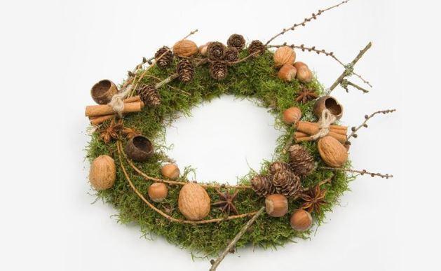 Silvestre corona para Navidad
