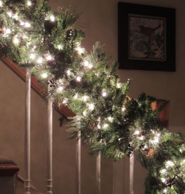 Las escaleras se visten de Navidad