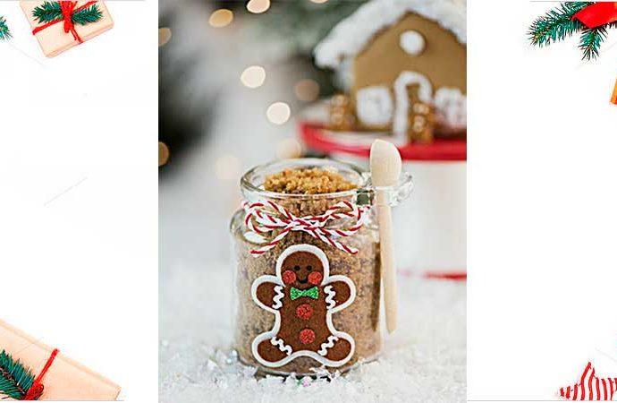 Frascos de vidrio decorados de Navidad