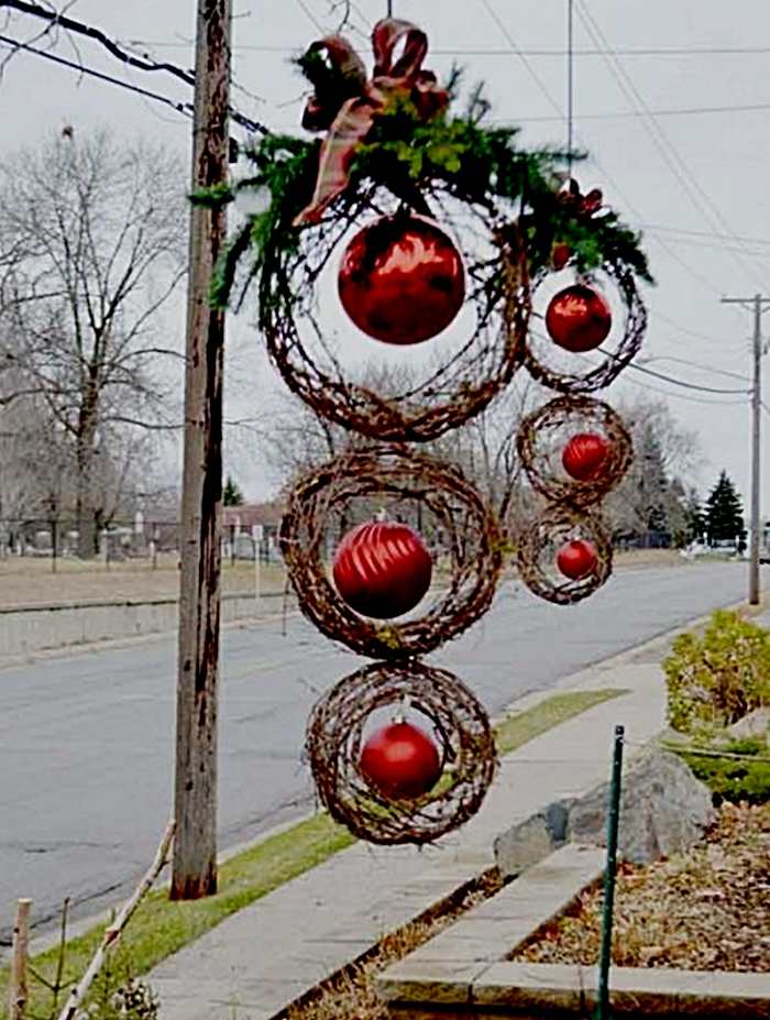 Bolas de Navidad y bejucos del bosque