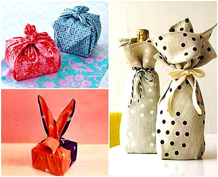 Forrar regalos con tela es una muy buena alternativa elegante y económica