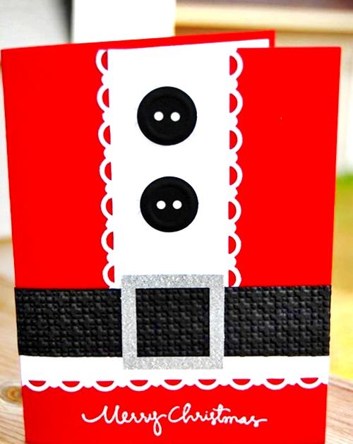 Elaborar unas divertidas tarjetas con la silueta de Santa
