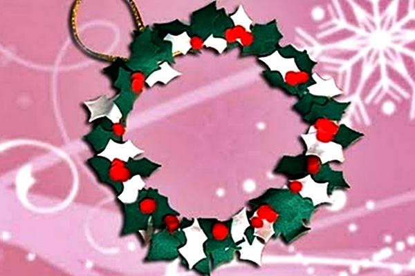 Linda corona para la temporada navideña