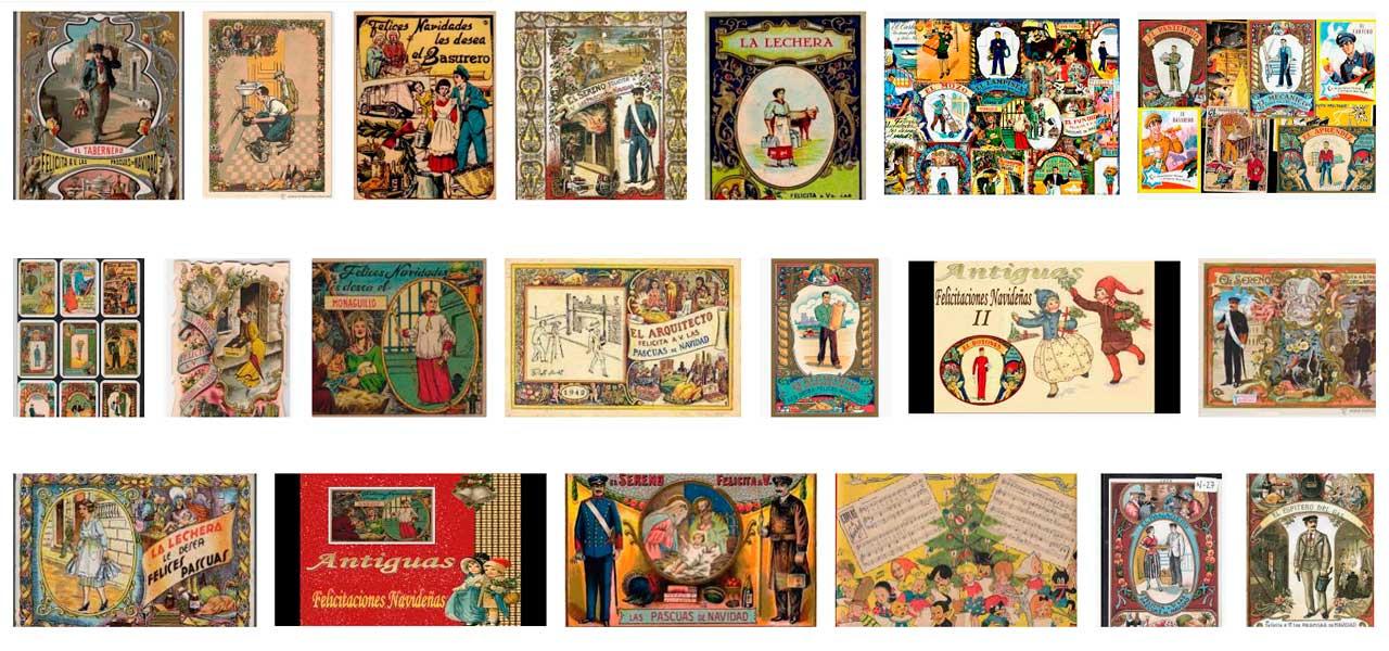felicitaciones de navidad antiguas viejas